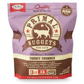 IN STORE AND CURB-SIDE PICK UP ONLY - Primal - Turkey Formula - Raw Cat Food - 3 lb