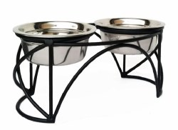 Pets Stop - Arch Cross Double Diner - Raised Diner - 3 qt