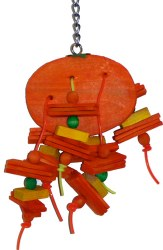 Paradise Bird Toys - Orange Small