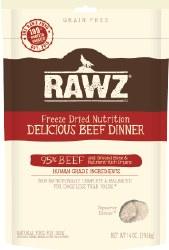 Rawz - Delicious Beef Dinner - Freeze Dried Dog Food- 5oz