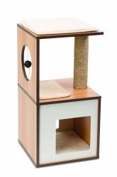 Vesper - Cat Furniture - V-Box - Walnut - Small