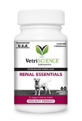 VetriScience - Renal Essentials Chewable Tablets for Dogs - 60 ct