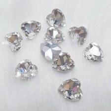 Diamond Stone-Heart-10 pcs/DA