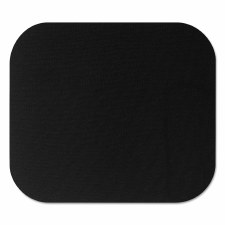 Polyester Mouse Pad-Black-9'' x 8''