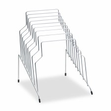 Step File-8 Sections-Wire-Silver-10 1/8'' x 12 1/8'' x 11 7/8''