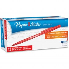 Ball Pen-Paper Mate-Fine Point-0.8 mm-Red
