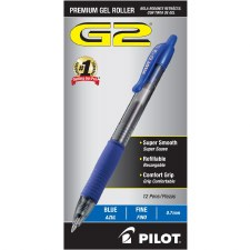 Gel Pen-Retractable-Pilot-Fine Point-0.7 mm-Blue