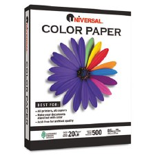 Colored Paper-20lb-8-1/2 x 11-Gray-500 Sheets -UNV11209