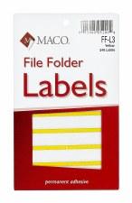 File Label-yellow