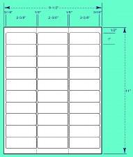 Label-2 5/8 x 1 (DL258-1-100G)-30 labels/sheets