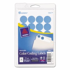 Avery Dot Label-Light Blue-3/4""