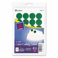 Avery Dot Label-Green-3/4""