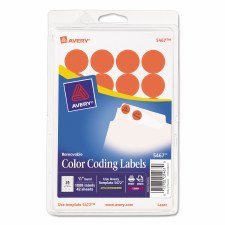 Avery Dot Label-Red Glow-3/4""