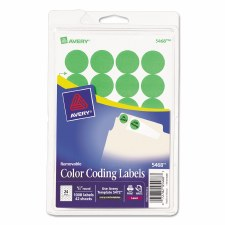 Avery Dot Label-Green Glow-3/4""