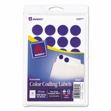 Avery Dot Label-Dark Blue-3/4""