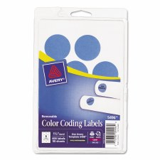 Avery Dot Label-Light Blue-1 1/4""