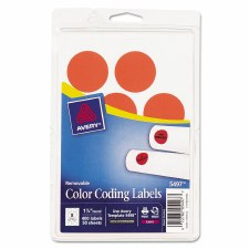 Avery Dot Label-Red Glow-1 1/4""