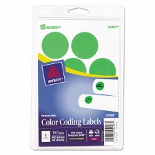Avery Dot Label-Green Glow-1 1/4""