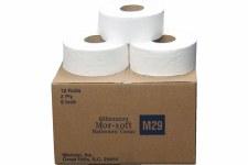 "Mor-Soft Millennium M29 Jumbo Toilet Bath Tissue 9"" Diameter 2-ply 12 rolls"