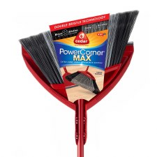 O-Cedar Multi Surface Angle Broom With Dust Pan (red)