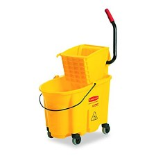 Rubbermaid 26-Quart Side Press Mop Bucket & Wringer Combo Yellow