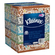 Kleenex 2-Ply White Facial Tissue-10 Count