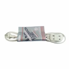 Household Extention Cord-White-6 ft