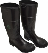 Rubber Boot (Black)-Steel toe-sz 6