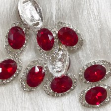 Diamond Red Oval #1808/da10
