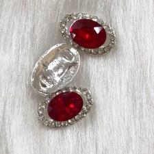 Diamond Red Oval #1808/3da