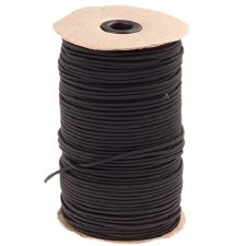 Bungee Cord-Black-144 yds-1/8""