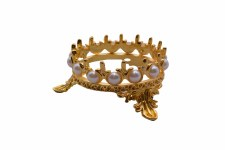 Crown Brush Holder-a1 Gold