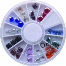 Diamond Cubes Stone Wheel-12 Colors/36pcs