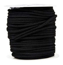 Cotton Draw Cord-Black-128B