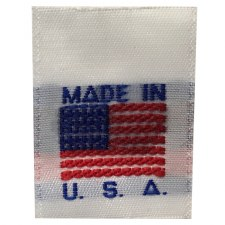 Woven Label -Flag (Made in USA) WL-White