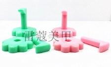 Nail Practice Frame-Flower Green 10/pk