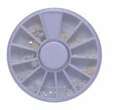 Pearl In Wheel Diamond White Mix