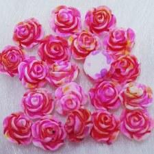 Plastic 3d Flower Charm#2/20da