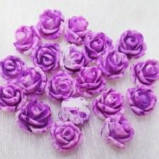 Plastic 3d Flower Charm#3/20da