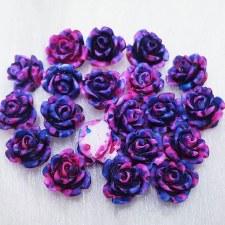 Plastic 3d Flower Charm#4/20da