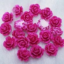 Plastic 3d Flower Charm#6/20da