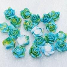 Plastic 3d Flower Charm#7/20da