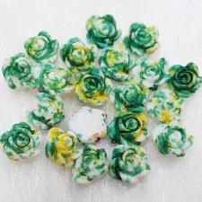 Plastic 3d Flower Charm#8/20da