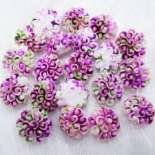 Plastic 3d Flower Charm#9/20da