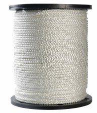 Polyester Draw Cord-White-64B-144 yds