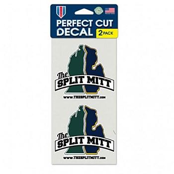 The Split Mitt Perfect Cut Decal 4'' x 8'' Set of 2