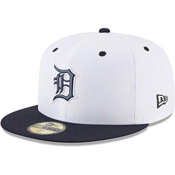 Detroit Tigers New Era On-field Prolight Batting Practice 59FIFTY 7 1/8 White/Navy 2018