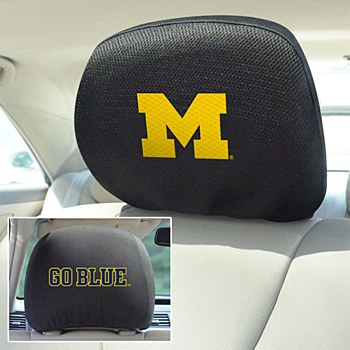 University of Michigan Head Rest Cover