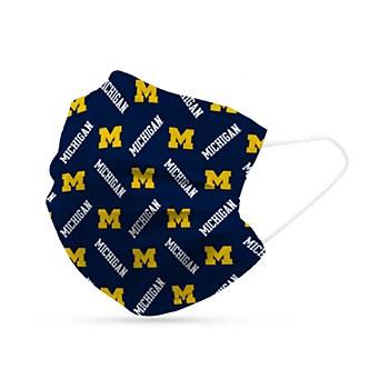 University of Michigan Disposable Mask 6 Pack