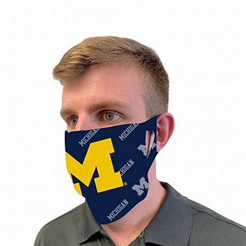 """University of Michigan """"M"""" Mask Face Cover"""